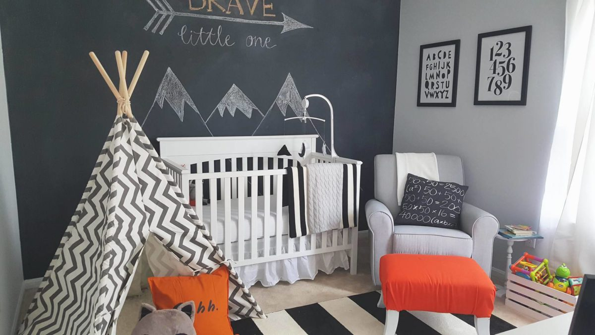 Black, White and Grey Theme Nursery Inspiration