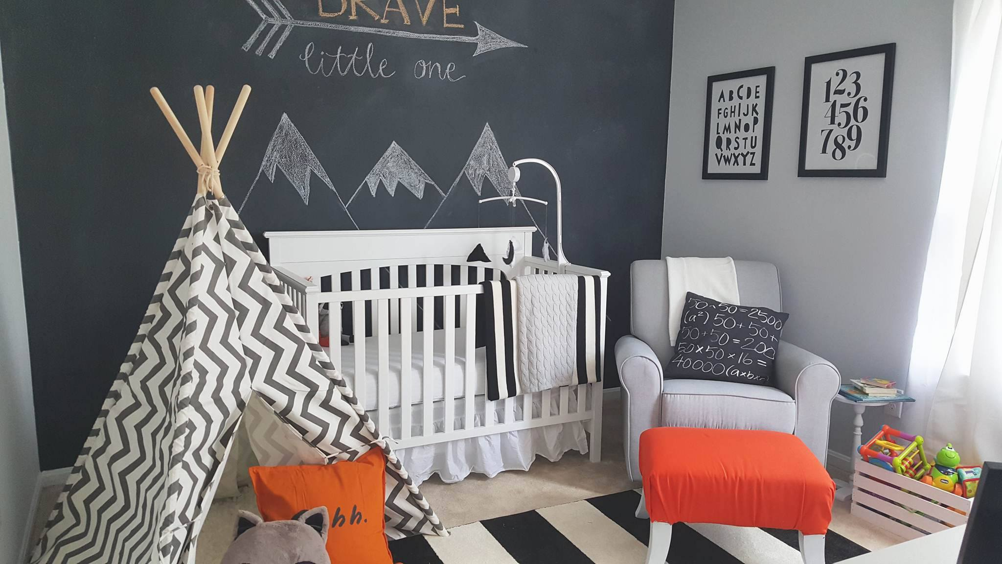 Fun Bedroom Decorating Ideas Black White And Grey Theme Nursery Inspiration