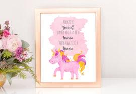 Be-A-Unicorn-Print-Frame