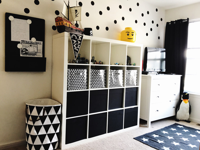 Black and White Boy's Room Inspiration