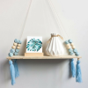 Blue Nordic Wood Shelf