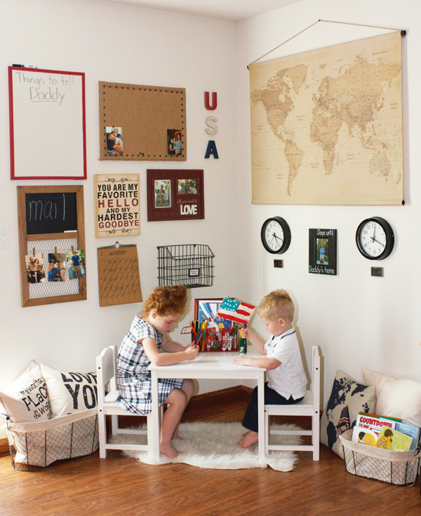 Military Families Deployment Wall DIY