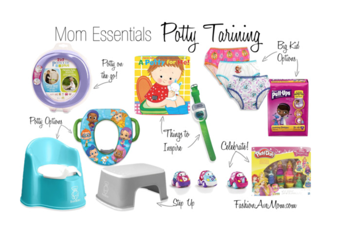 Potty Training Essentials and Free Potty Chart