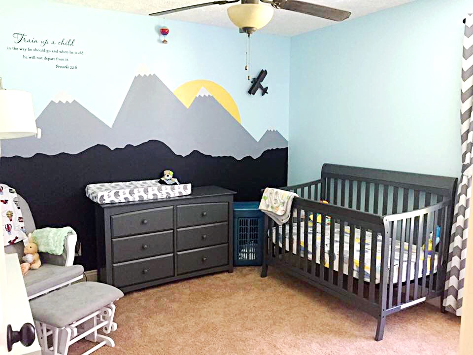 In The Mountains Themed Nursery