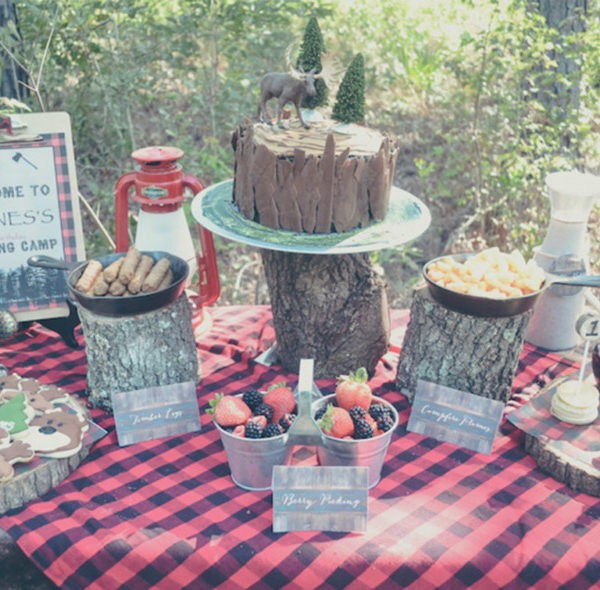A Kid's Lumberjack Birthday Celebration