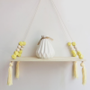 Nordic Beaded Wall Shelf Yellow