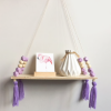Nordic Beaded Wall Shelf Purple