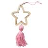 Nordic Open Star Tassel Pink