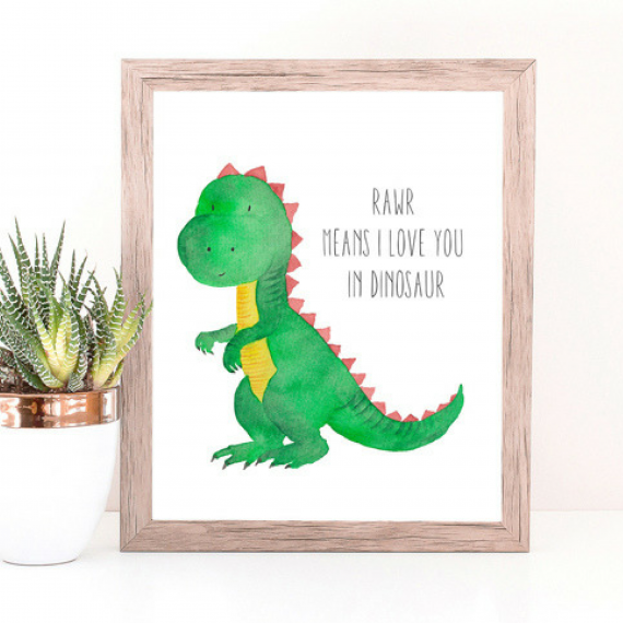 Rawr Means I Love You Art Print