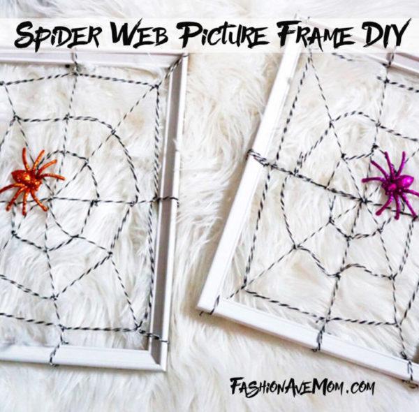 =Halloween Spider Picture Frame DIY