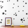 Star Wall Decals Black Stars 2
