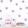 Star Wall Decals Silver Stars