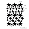Star Wall Decals Templet