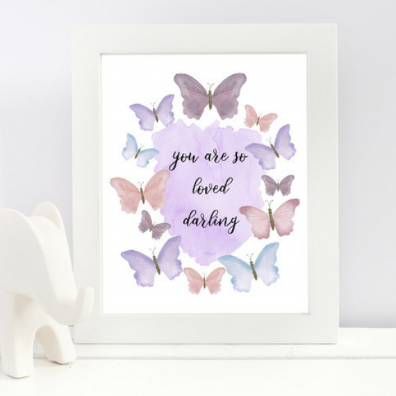 You are Loved Butterfly Art