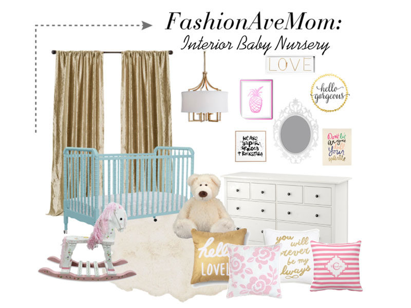 Gold Meets Glam Nursery Inspiration