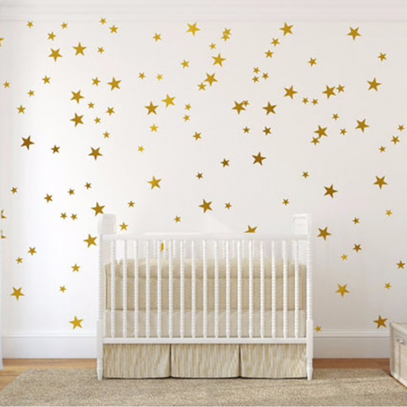 gold wall decals