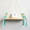 mint green nordic wood wall hanging