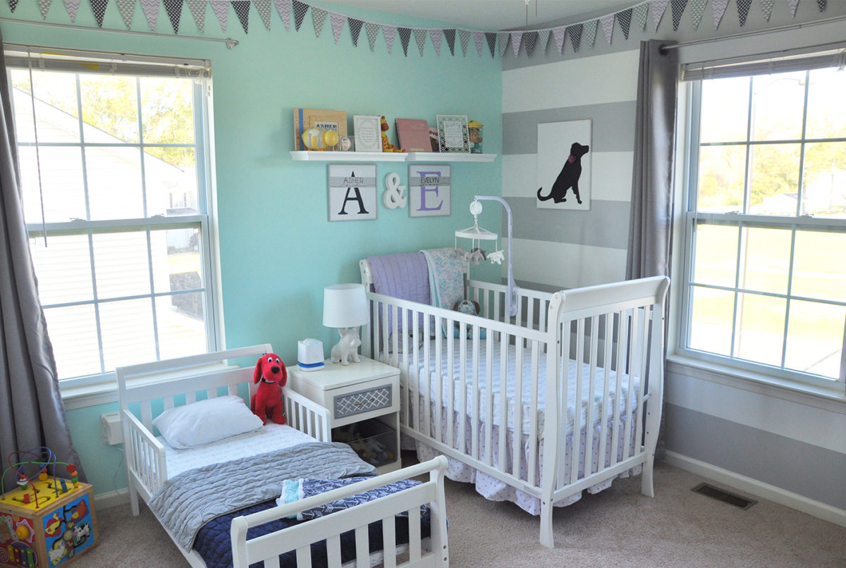 Shared Boy Girl Toddler and Nursery Room